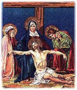 Jesus dead off cross
