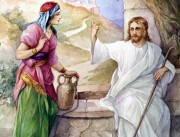 Jesus with a Samaritan woman at a well  (John 4) source