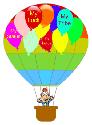 """Good-Luck"": One of the many balloons supporting Religion"