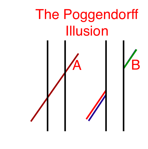 the poggendorff illusion errors in the perception of objective reality The poggendorff illusion: perception & psychophysics, 1971, vol 10 results and discussion figure 1 shows the relationships obtained, ± 1 standard error of the.