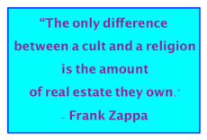 cults vs religion essay