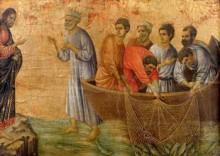 Ducio's (1300s) Miracle of the 153 Catch